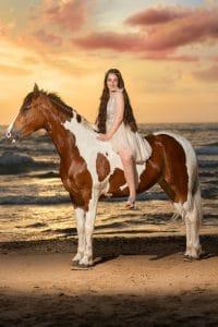 צילום סוס בשקיעה לבת מצווה